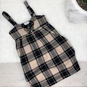 Julie Haus Plaid Wool Jumper Dress Size 6